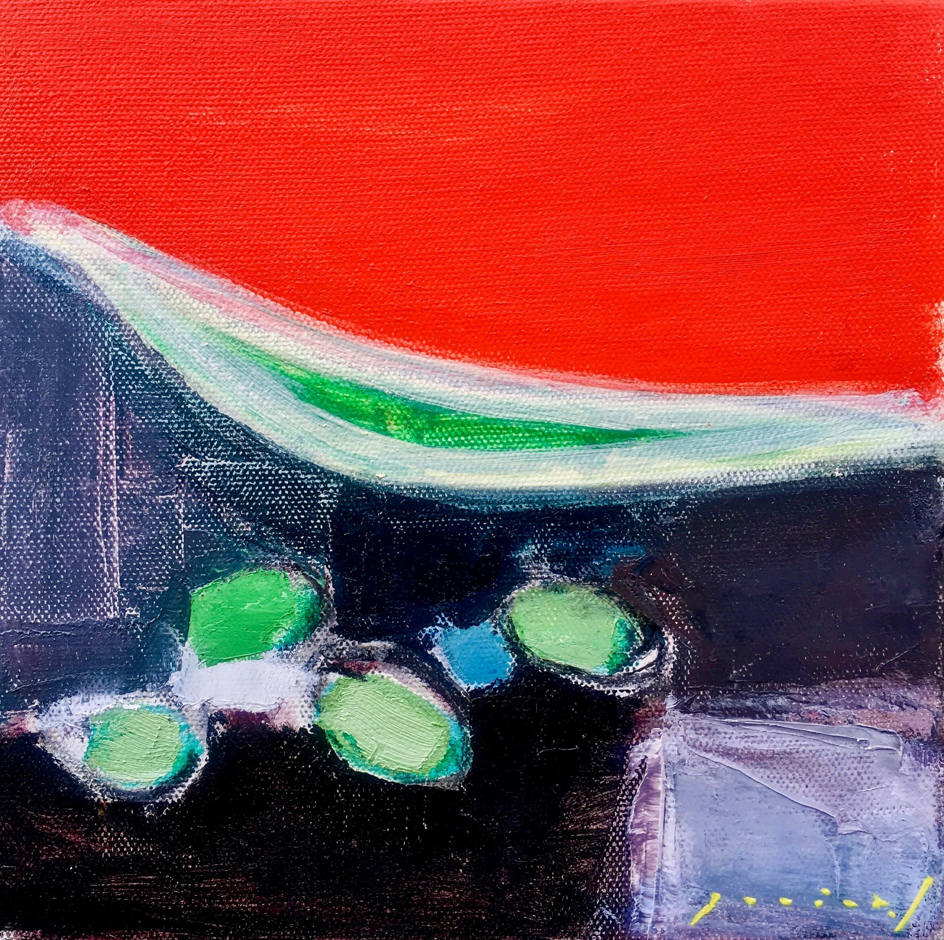 「soramane」oil on canvas20×20(cm)¥80,000