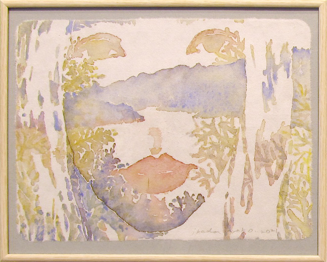 「to Good Sounds 01」watercolor on paper 235x175mm(額259x208mm) 2021 ¥24,200